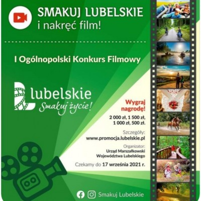 """I Ogólnopolski Konkurs Filmowy """"Lubelskie. Smakuj życie!"""""""