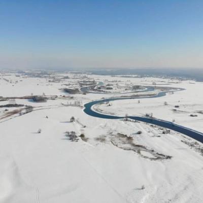 Pradolina Wieprza zimą