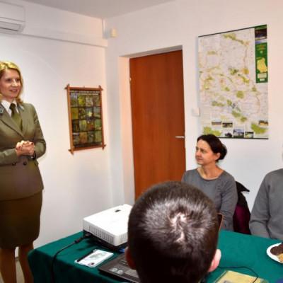 Studenci UMCS w biurze ZLPK