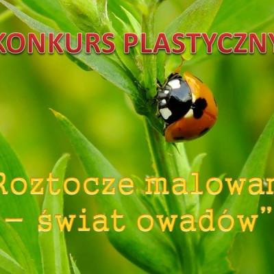"""Konkurs plastyczny  """"Roztocze malowane – świat owadów"""""""
