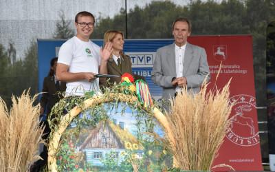 Zwycieżca konkursu rowerowego Tour de Lublin Landscape Parks - Pan Piotr Zglejszewski z Lubartowa
