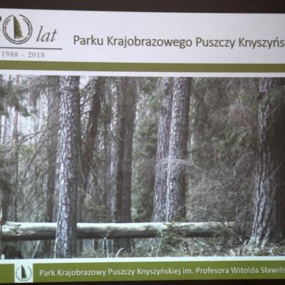 """Konferencja z okazji XXX-lecia Parku Krajobrazowego """"Puszczy Knyszyńskiej"""""""