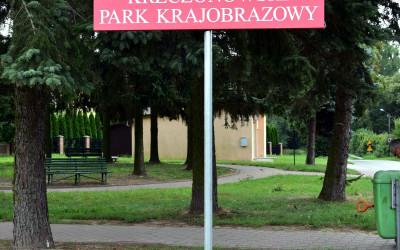 Nowa tablica graniczna w Krzczonowie