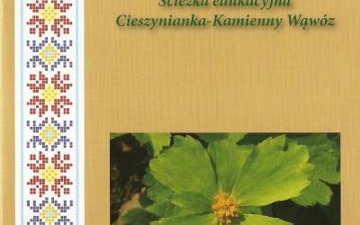 Okładka przewodnika po ścieżce edukacyjnej Cieszynianka-Kamienny Wąwóz