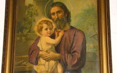Obraz św. Józefa przywieziony z Rzymu
