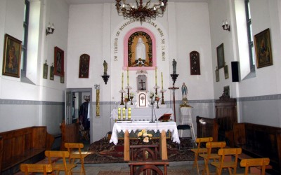Wnętrze kaplicy św. Teresy od Dzieciątka Jezus