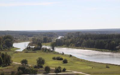 Widok z Góry Zamkowej w Mielniku