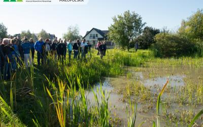 pierwszy z rewitalizowanych zbiorników wodnych w gminie Jerzmanowice Przeginia