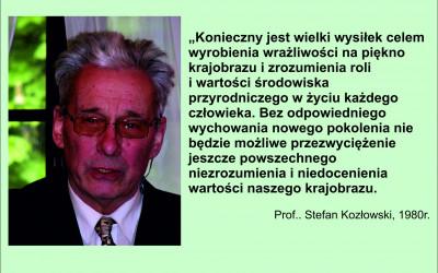 Prof. Stefan Kozłowski o potrzebie ochrony  krajobrazu