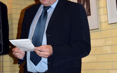 Wystapienie Andrij WJalca - zastępcy dyrekotra ds. naukowych Muzeum Kijowska Twierdza