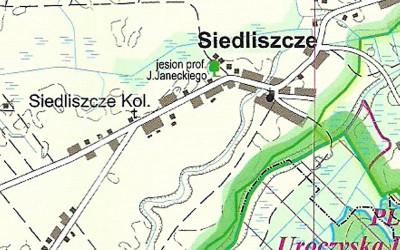 fragment mapy Strzeleckiego PK