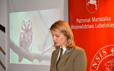 Uczestników Uroczystej Gali wita Pani Justyna Jędruch - Dyrektor ZLPK