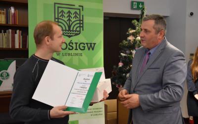 Gratulacje składa Prof. Grzegorz Grzywaczewski (WFOŚiGW w Lublinie)
