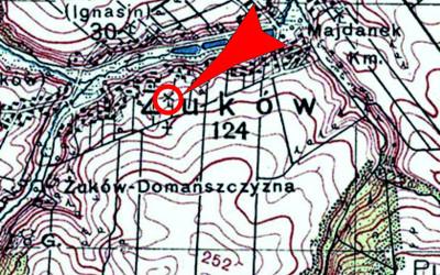 na przedwojennej mapie