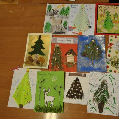 """Konkurs """"Kartka świąteczna lasem malowana"""""""