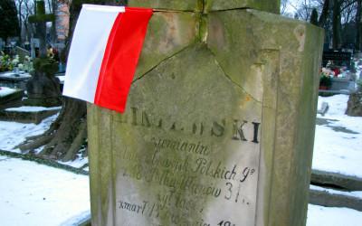 na grobie Józefa Seweryna Liniewskiego