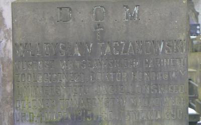 na grobie Władysława Taczanowskiego