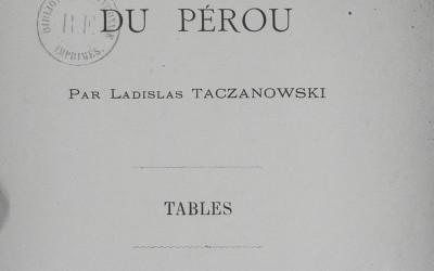 Ornitologia Peru - tytułowa
