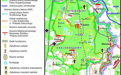 Sobiborski PK - mapa