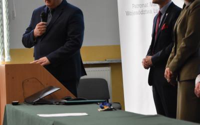 Zastępca Prezesa Wojewódzkiego Funduszu Ochrony Środowiska i Gospodarki Wodnej w Lublinie Pan Prof. dr hab. Grzegorz Grzywaczewski podczas przemówienia