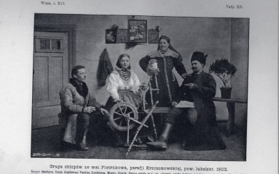 Grupa chłopów ze wsi Pietrzków