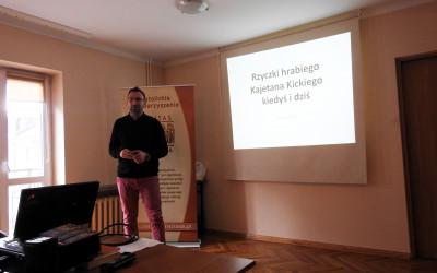 Prezentacja Rzyczki hrabiego Kickiego dawniej i dziś, prowadzi Łukasz Kot