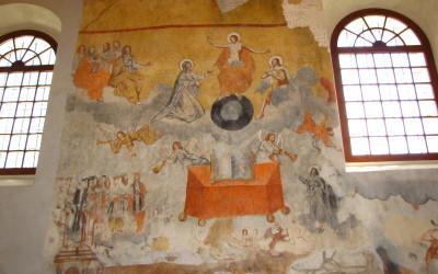 Odrestaurowane freski w dawnej cerkwi w Szczebrzeszynie (fot. K. Wojciechowski)