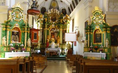 Wnętrze kościoła klasztornego pw. św. Katarzyny (fot. K. Wojciechowski)
