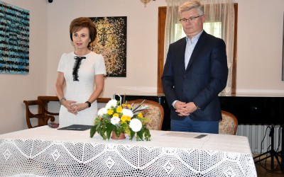 prof. Małgorzata Karwatowska i prof. Robert Litwiński z UMCS