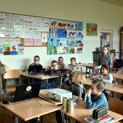 O zwierzętach zimą w Szkole Podstawowej nr 28 w Lublinie