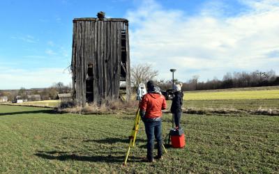 Naziemny skaning laserowy wiatraka w Żukowie, fot. K. Wojciechowski
