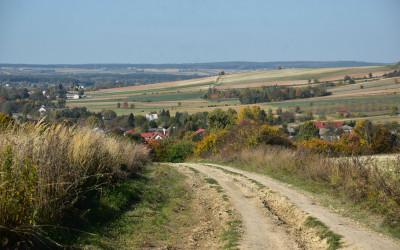 Krajobrazy na ścieżce - w dali Kryniczki