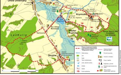 Mapa ścieżki Stryjowskie Debry