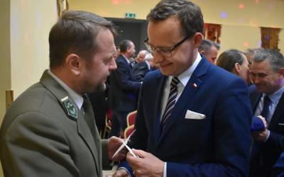 Wiceminister Marcin Romanowski i Krzysztof Wojciechowski z Biura ZLPK