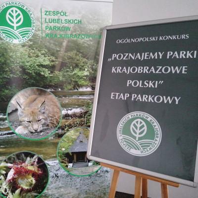 """Ogólnopolski Konkurs """"Poznajemy Parki Krajobrazowe Polski"""" – etap parkowy w ZLPK Ośrodku Zamiejscowym w Zamościu."""