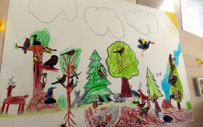 Mój wymarzony las - twórczość uczestników warsztatów