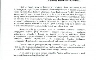 List otwarty Pani Beaty Mazurek – Poseł do Parlamentu Europejskiego skierowany do uczestników oraz organizatorów Konkursu