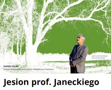 O jesionie prof. Janeckiego w Przeglądzie Uniwersyteckim KUL