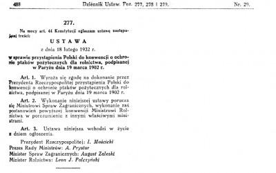 Ustawa 1932
