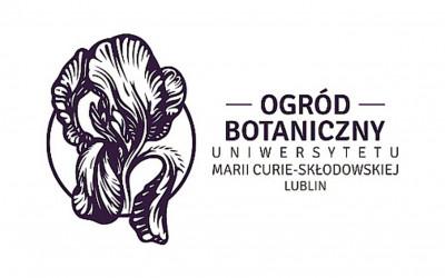 Kwiat kosaćca bezlistnego w logo Ogrodu Botanicznego UMCS w Lublinie