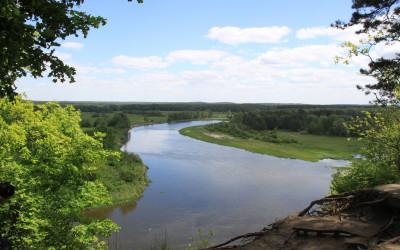 Widok z Łysej Góry na dolinę Bugu w okolicach Gnojna, fot. Archiwum ZLPK OZ w Janowie Podlaskim