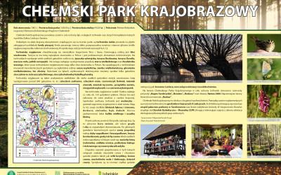 Chełmski Park Krajobrazowy - tablica informacyjna (1), fot. Archiwum ZLPK