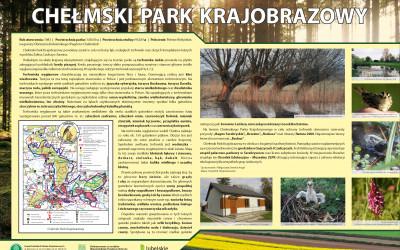 Chełmski Park Krajobrazowy - tablica informacyjna, fot. Archiwum ZLPK