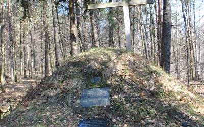 Kopiec z Powstania Styczniowego w lesie koło Batorza, fot. J. Kiszka ZLPK OZ w Janowie Lubelskim