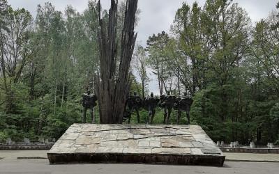 Pomnik na Porytowym Wzgórzu upamiętniający największą bitwę partyzancką w dziejach II Wojny Światowiej, fot. J. Kiszka ZLPK OZ w Janowie Lubelskim