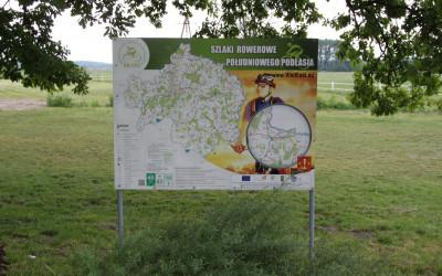 Tablica szlaków rowerowych Południowego Podlasia, fot. Archiwum ZLPK OZ w Janowie Podlaskim
