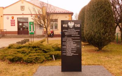 Pomnik postawiony w 100-lecie Niepodległości Polski, fot. K. Kowalczuk