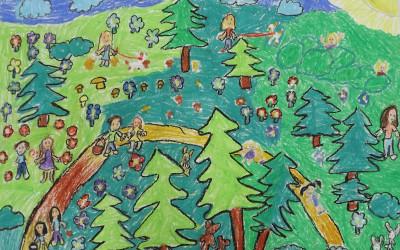Zabawy w lesie Róża Jaśmińska ZSP Łabunie