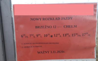 Rozkład jazdy Busów Brzeźno-Chełm 2