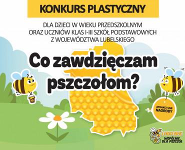 """Konkurs plastyczny dla dzieci """"Co zawdzięczam pszczołom?"""" (2021)"""